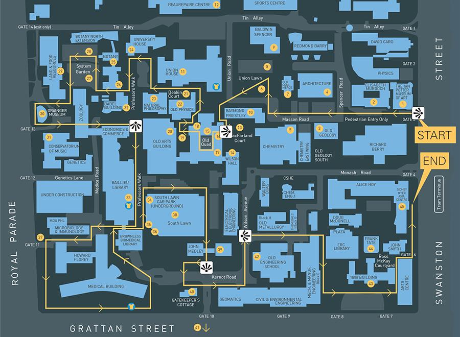 University Of Melbourne Tour Map
